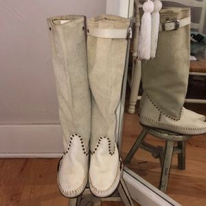 italian leather moccasin festival boots